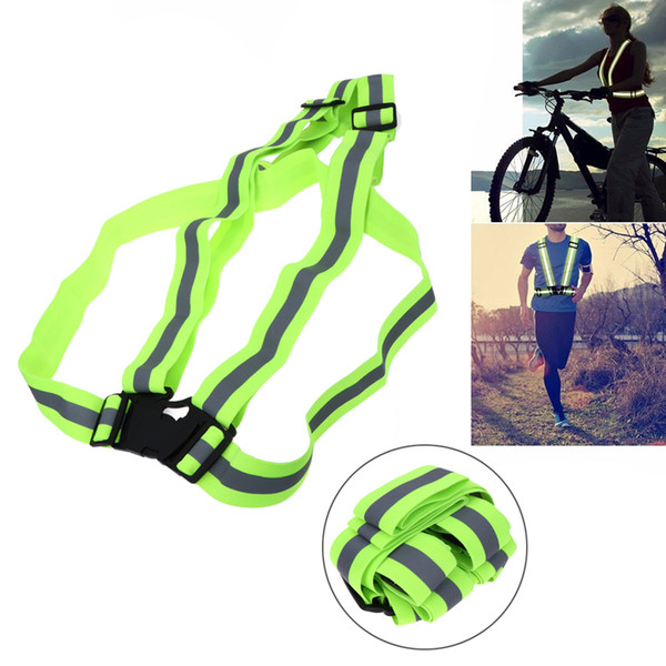 Multi-Function Adjustable Safety Visibility Reflective Vest Gear Stripes For Outdoor Night Running Riding Hiking Practical Vest