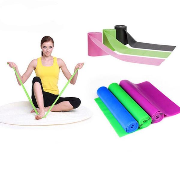 1.5 M Doğa Lateks Yoga Band Egzersizleri Direnç Bantları Elastik Streç Kemer Spor Eğitimi Band Halat Pilates Genişleme Bandı Toptan