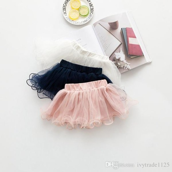 3 colors Baby girl tutu Skirts mesh little Princess skirts cute girl Summer solid color skirt free shipping
