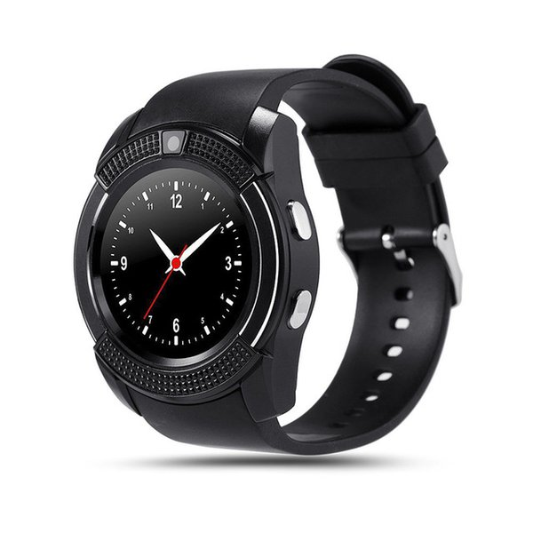 V8 Bluetooth Smart Watch 1.22 inch Round Screen Support SIM / TF Card Camera SmartWatch for Samsung Huawei Android Smartphone 40PCS/LOT