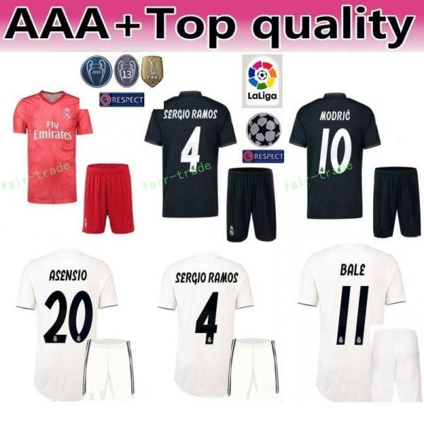 best sneakers 1000d e546b 2019 FC Real Madrid 2018 2019 Soccer Champions 9 Karim Benzema Jersey White  17 Lucas Vazquez 2 Dani Carvajal Football Shirt Kits With Short From Fair  ...