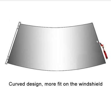 Parabrezza retrattile da 1450mm Parasole per auto Parasole anteriore auto Tende da sole Tendine parasole Anti UV Parasole a forma di ventaglio