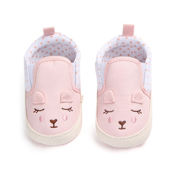 Kids Baby Girls Shoes Cotton Cute Animal Pattern Shoes Anti-slip Toddler Crib First Walkers 0-18 Months