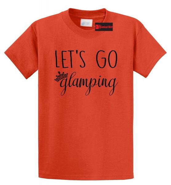 Vamos Ir Glamping T Camisa de Acampamento Ao Ar Livre Camiseta Gráfica Engraçado frete grátis Unisex Casual tee presente