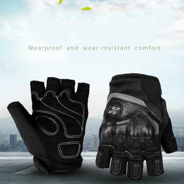 Motorcycle Parts Half Finger Knight Locomotive Protective Gloves Strong Anti-drop Anti-skid Wear Thickened Cycling Protection