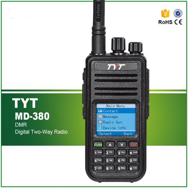 Radio Mobile Numérique (DMR) TYT MD-380 VHF 136-174 MHz 5W Radio bidirectionnelle Talkie Walkie + Câble / Logiciel de Programmation