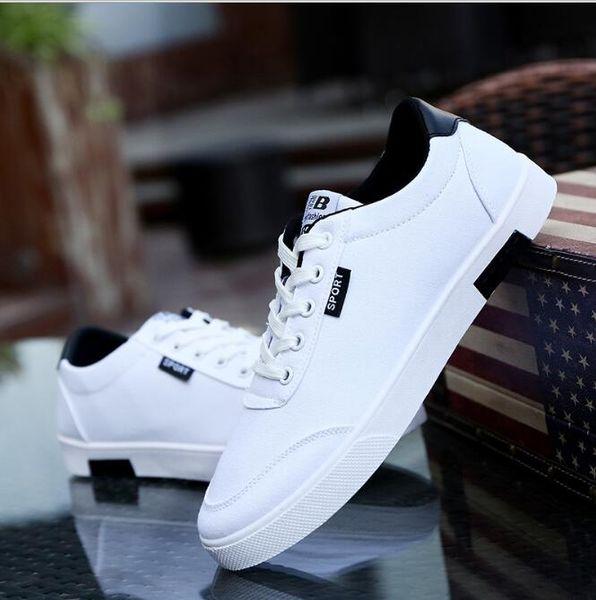 Sommer Herrenschuhe, Segeltuchschuhe, Herren weiße Schuhe, Sportschuhe Größe: 39-44