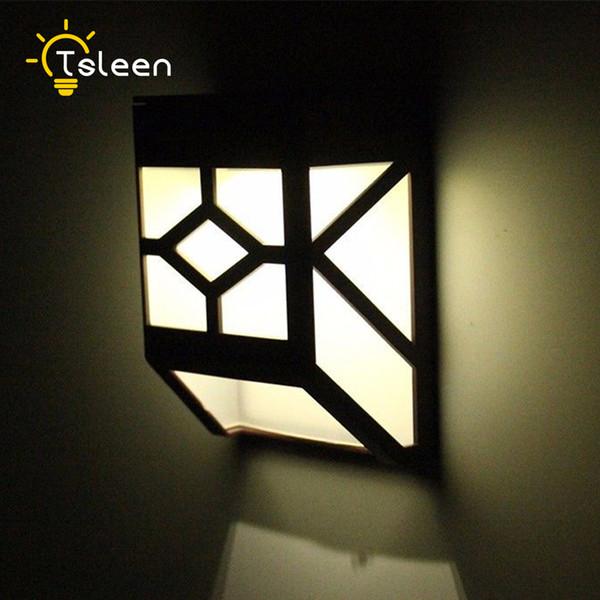 TSLEEN 2x Solar Powered Wall Mount LED Light Garden Path Outdoor Fence Yard Lamp Outside Lights Led Solar Lamp Outdoor Lanterns