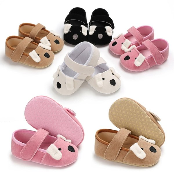 OUTAD Baby First Walkers Dog Pattern Infant Anti-Slip Soft Sole Shoes for 0-1 Year Old Infant Baby Girls Boys Pre-Walkers Shoes