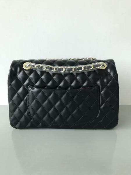 2018 klassische schwarze Kette Tasche Luxus Schloss Designer Handtasche hochwertige Mode Damen Umhängetasche Crossbody Taschen Clutch Bags kostenloser Versand