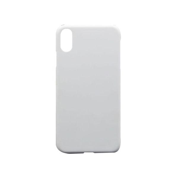 Custodia per telefono cellulare di vendita calda per iPhone X 7 8 sublimazione bianco bianco 3D copertura del telefono di trasferimento di calore