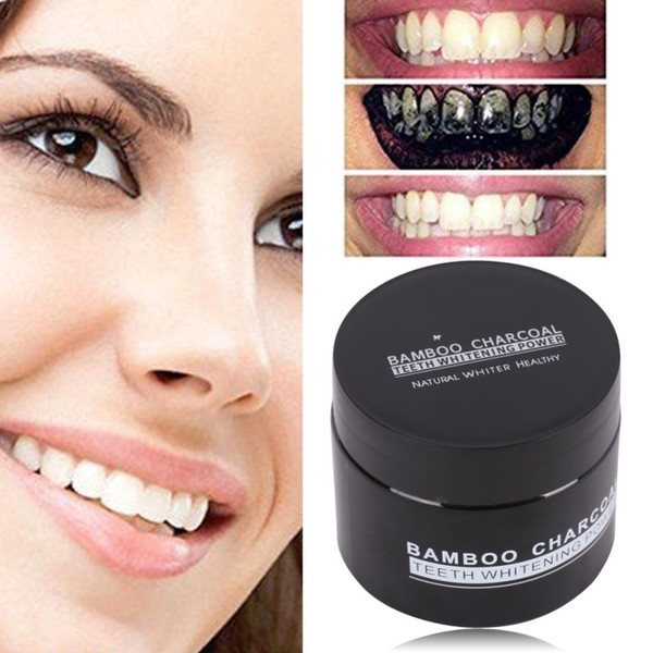 top popular 20g Activated Carbon Teeth Whitening Organic Natural Toothpaste Powder Washed White Teeth Oral Hygiene Dental Health Care 2021