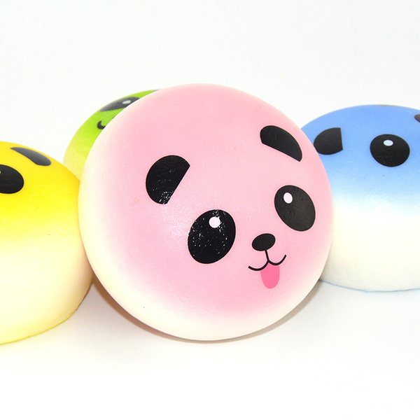 Foreign trade classic cartoon lovely colored giant panda PU super soft Squishy fragrant mobile phone bread Pendant