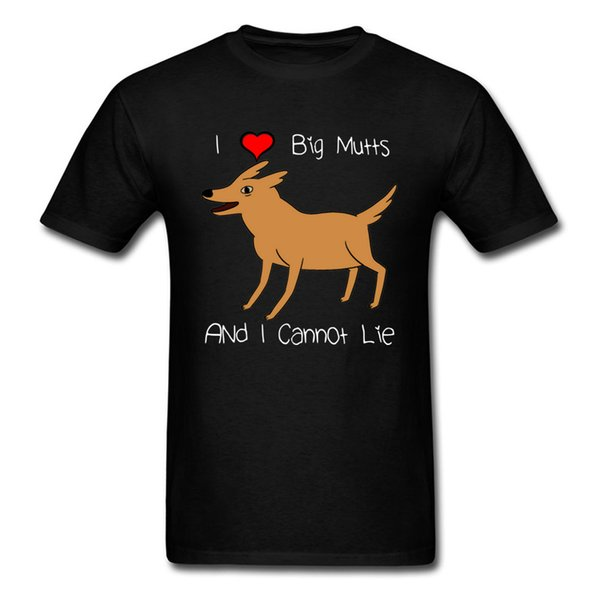 Hip Hop Men Tops & Tees T Shirts Cotton Simple Style Tee-Shirt Funny Dog Shirt I Love Big Mutts Gift For Dog Lovers