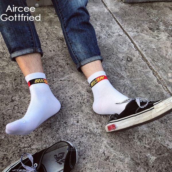 Socks Men AIRGOTT Brand Cotton Original Comfortable Basketball Socks Spring Crew Casual Fashion Breathable Sexy Football