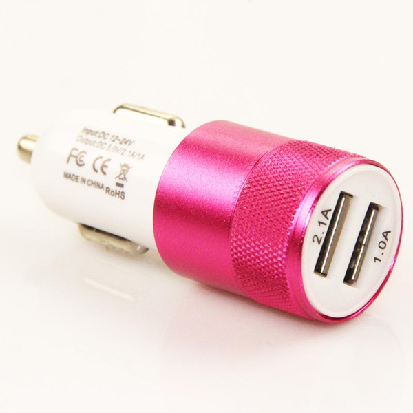 best selling Aluminium dual usb 2-port USB Universal Car Charger Adapter for Normal Usb phone