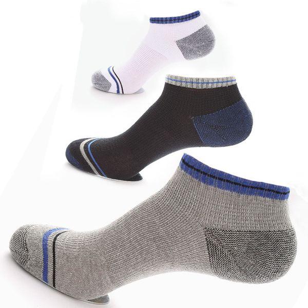 5 pairs erkek Spor Ayak Bileği Çorap Pamuk Futbol Çorap Düşük Kesim Mesh Net Çorap Bisiklet Bowling Kamp Yürüyüş Çorap