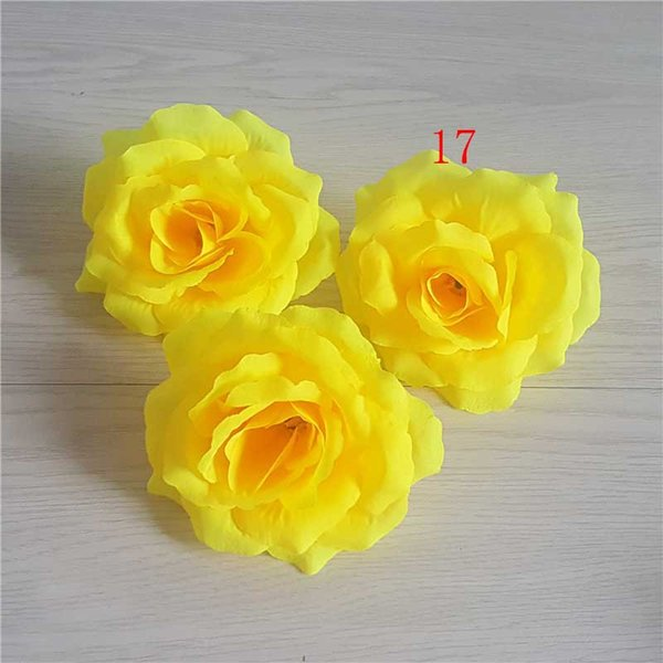 10cm Ivory Artificial Flowers Silk Rose Head Diy Decor Vine Flower Wall Wedding Party Decoration Gold Artificial Flowers drop shipping