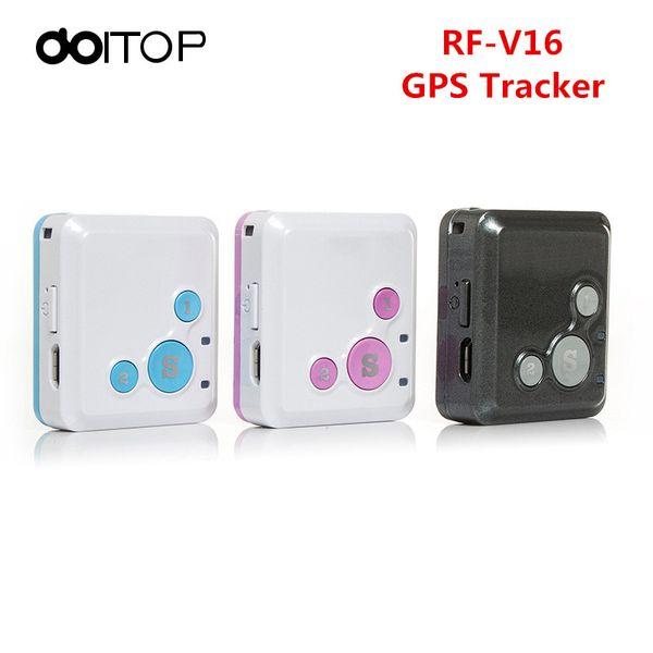 DOITOP Mini RF-V16 Anti Perdido Rastreador Veicular Monitor Posición GSM Localización GPS Tracker SOS en tiempo real para niños, niños, niños, mascotas