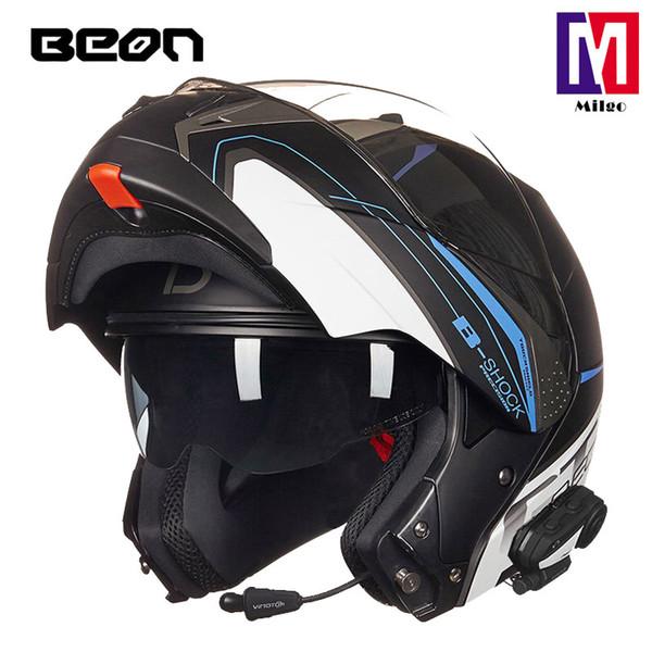 BEON B700 Flip Up Motorradhelm neuer modularer Vollvisier-Motorradhelm für Damen innerer sonniger Dual Shield-Helm