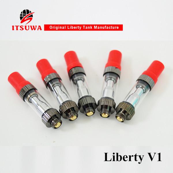 Vape Pen Itsuwa Amigo Ceramic Coil Liberty V1 Vape Cartridges Vaporizer 510 thread Glass Tank 0.5ml 1.0ml Atomizer Electronic Cigarettes