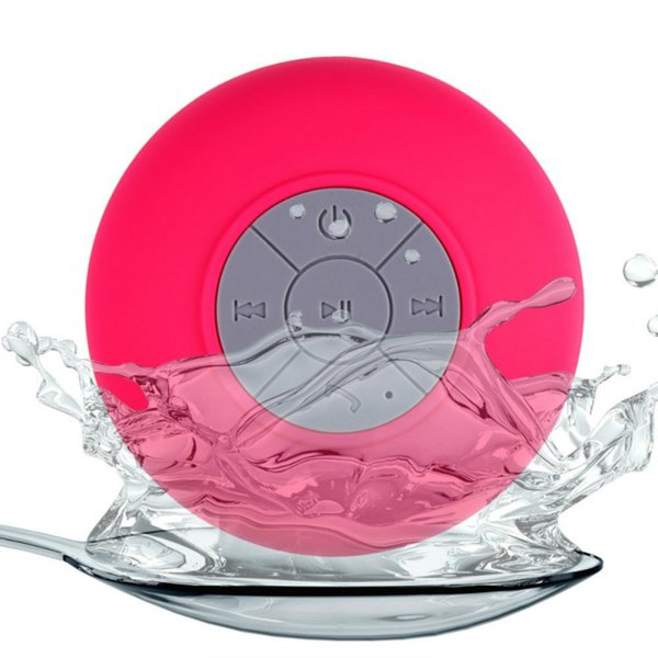 Mini Portable Subwoofer Shower Waterproof Wireless Bluetooth Speaker Car Handsfree Receive Call Music Funny Suction Mic