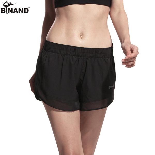 BINAND Mesh Patchwork Fitness Yoga Shorts for Women 2 in 1 Gym Yoga Sport Shorts Running Quick Dry Cardio Training Bottom