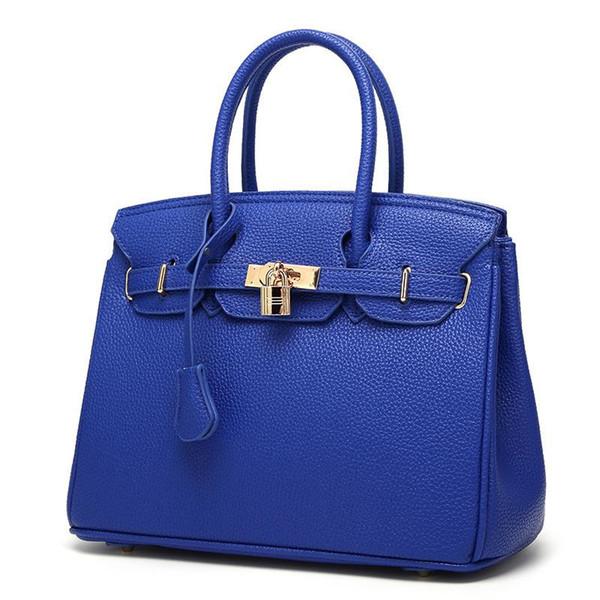 Women Totes New Fashion PU Leather European Purses And Handbags Big Bags Cross Body Lychee Pattern Shoulder Bolsa High Quality Tote Bag