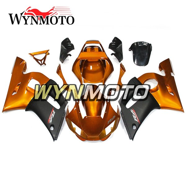 Bodywork Full ABS Fairings For Yamaha YZF600 R6 YZF-600 1998 1999 2000 2001 2002 Injection ABS Motorcycle Body Kits Gold Black Cowlings