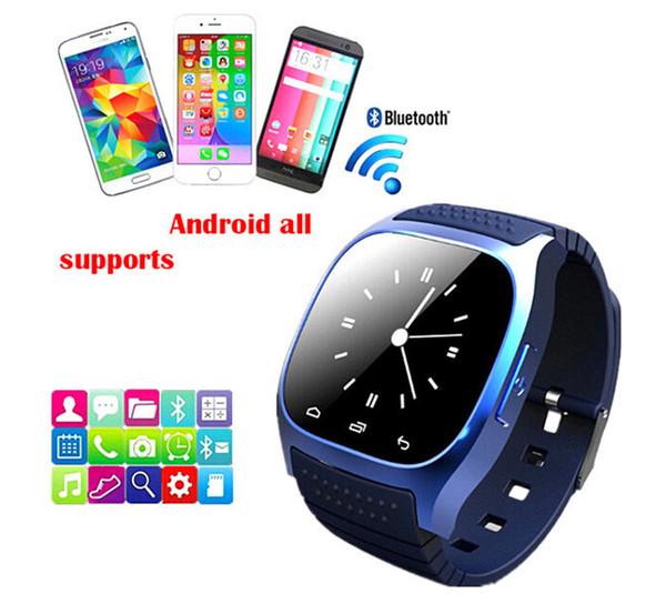 Bluetooth Handgelenk Smart Uhr M26 Wasserdichte Smartwatch Anruf Musik Schrittzähler Fitness Tracker Für Android Smart Phone PK A1