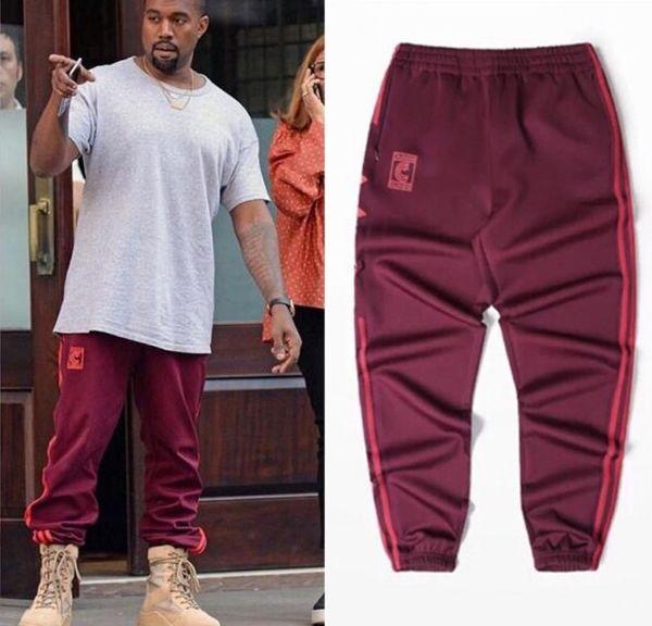 Atacado-Kanye West 4 ª Temporada Crewneck Sweatpants S-3XL CALABASAS Calças Homens soltos Basculadores Confortáveis Homens Calças Elásticas Hip Hop 981701