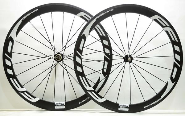 700C 50mm depth Road bike carbon wheels 25mm width bicycle clincher/Tubular carbon wheelset U-shape rim F5R white decas