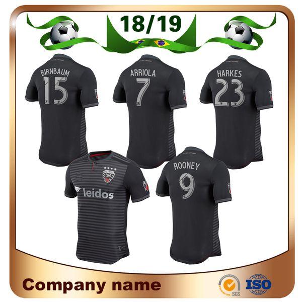 19/20 Player version DC United Soccer Jersey 2019 MLS Home Black #9 ROONEY Soccer Shirts ACOSTA HARKES ARRIOLA STIEBER Football Uniform