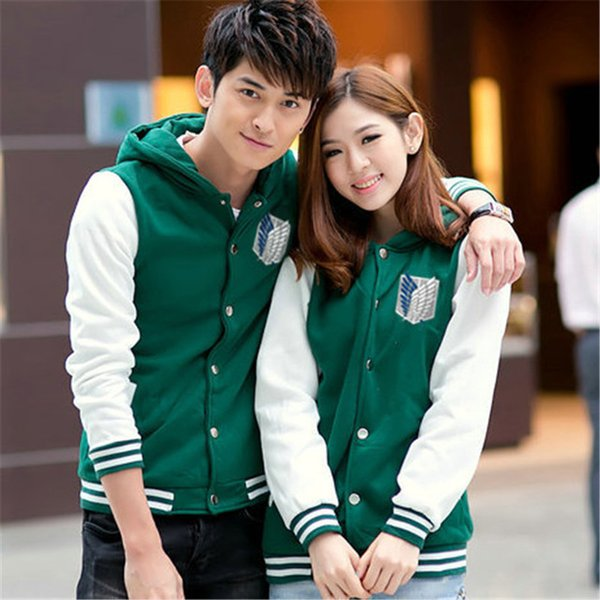 Cosplay Shingeki No Kyojin Attack On Costume Hoodie Jacket casual hoodies Sweat pour les couples