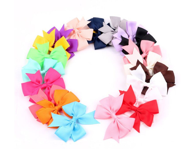 Hairpin Korean 2016 Fashion Cute Hairpins Gig Bow Hair Clip for Women Wholesale Pink/Red/Blue 40colors Hair jewelry zzh