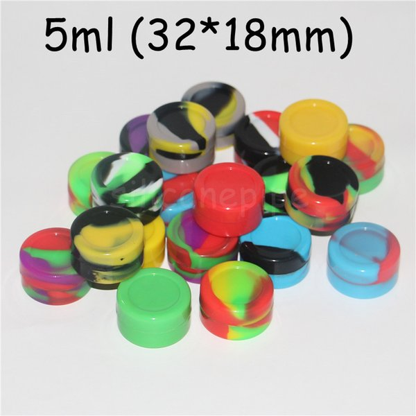 Nonstick Wax Containers Silicone Box Silicon Square Round Container Big Food Grade Wax Jars Dishes Mats Dab Dabber Tool Large Jar Oil Rigs