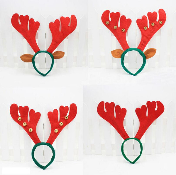 Christmas Decoration Deer Bell Large Antlers Christmas Head Hoop Buckle Xmas Party Holiday Decor Gift LX3445