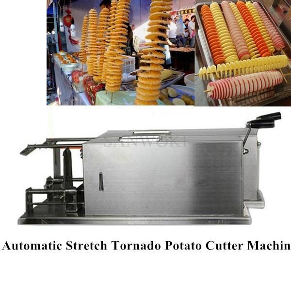 Automatic Stretch Manual Potato Spiral Slicer Vegetable Slicer Twist Cutter Machine