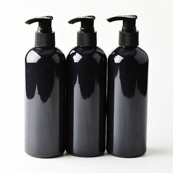 Flaconi in PET nero cosmetico da 20 pezzi 300 ml, contenitore di pompa per lozione shampoo vuoto confezione in plastica con dispenser, gel doccia