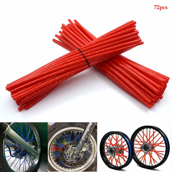 For Universal Motorcycle Dirt Bike Enduro Off Road Rim Wheel spoke skins For honda crf 450 CR CRF XR XL 85 125 250 500 KAWASAKI KTM