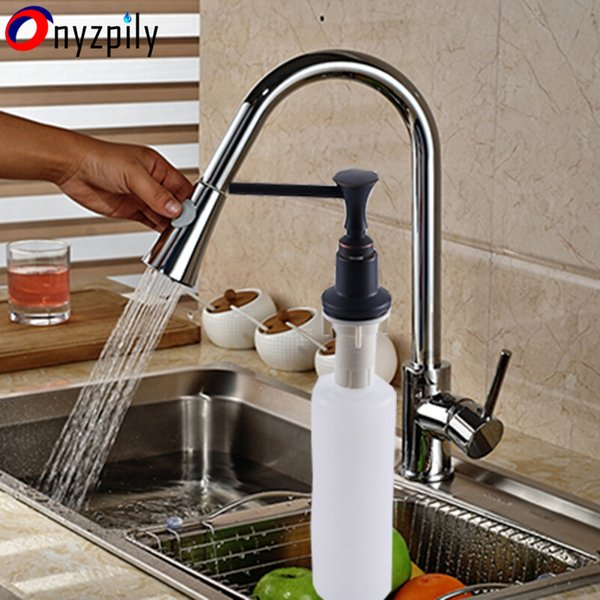 Chrome FinishPull Out Sprayer Head Kitchen Sink Faucet Single Handle Hot&Cold Mixer Taps Kitchen Faucet Taps torneira cozinha