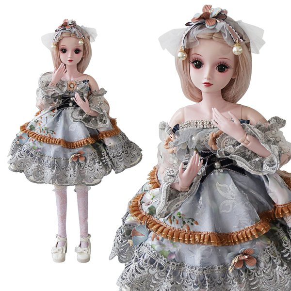 UCanaan 1/3 BJD SD Dolls 23.6'' 19 Ball Jointed Doll Girls Toys With All Full Outfits Children DIY Dressup Dolls