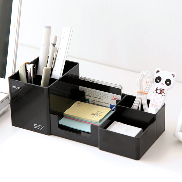 High Quality Simple Desktop Shelves Storage Box Desk Decor Stationery Makeup Cosmetic Organizer for Jewelry Stationery Hussif