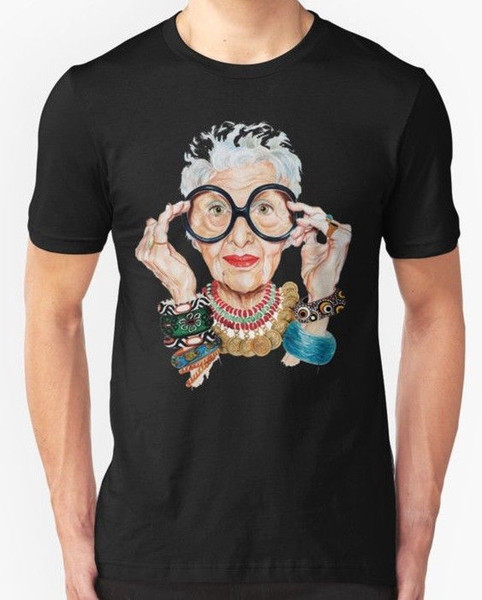 New Iris Apfel - Fashion is ultimately a form of self Men's T-shirt T Shirts Casual Brand Clothing Cotton