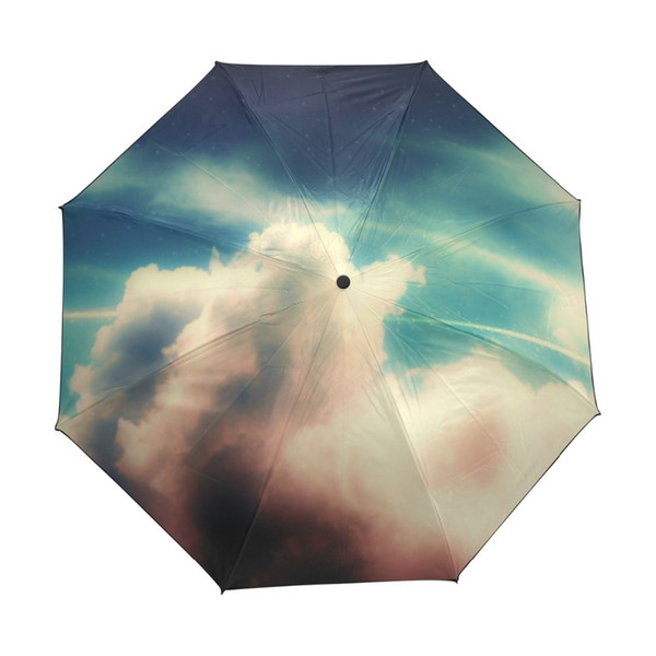 Star Galaxy Space Universe Nebula Cloud Custom Foldable Rain Umbrella Women DIY Anti UV Umbrellas Men Windproof Rain Gear Child