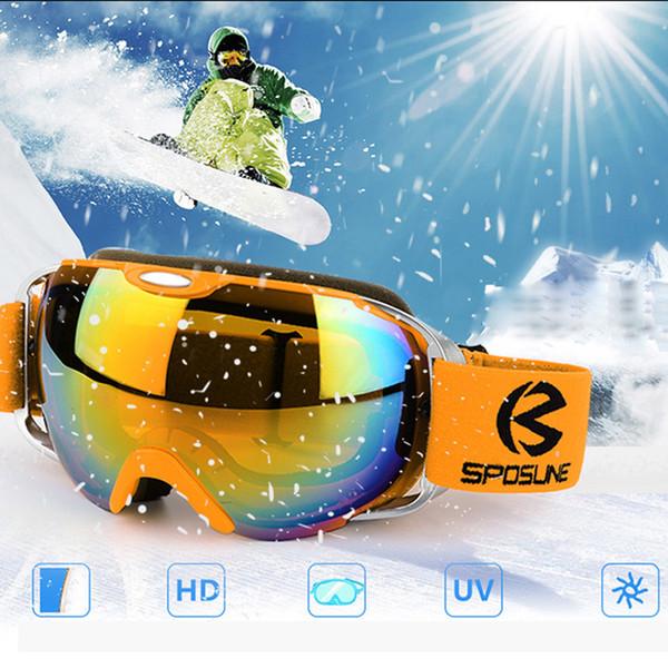 2018 Ski Goggles Skiing Glasse Men Snowboard Eyewear For Snowmobile Double Layers UV Protection Anti-fog Snow Ski Wintersport