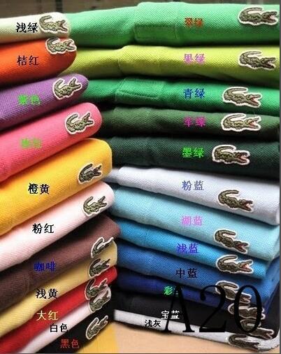 18S PLus Größe S ~ 4XL Verkäufe Golfpolo Männer T-Shirt der multi Farbe dünnes Polohemd Revers Kurzhülse Haifisch T-Stücke mischen Auftrag