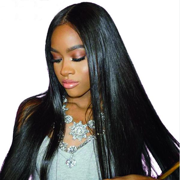 Оптовая необработанные бразильский шелк прямые девственные волосы плетет пучки перуанский малайзийский Индийский прямые волны человеческих волос