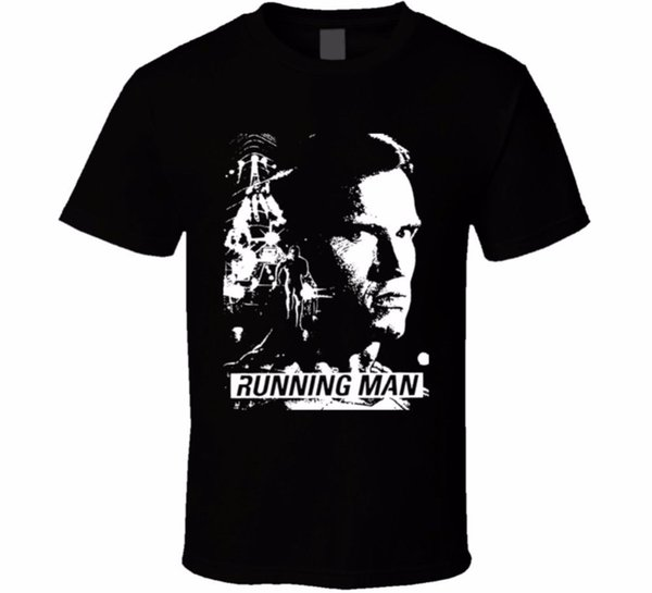 Printed T Shirts Online Runner Man Arnold Action Movie Fan T Shirt Men's Premium O-Neck Short-Sleeve Tee Shirts