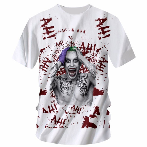 New Fashion Womens/Mens Spring and summer new European and American 3D digital printing sport casual T-shirt KL001